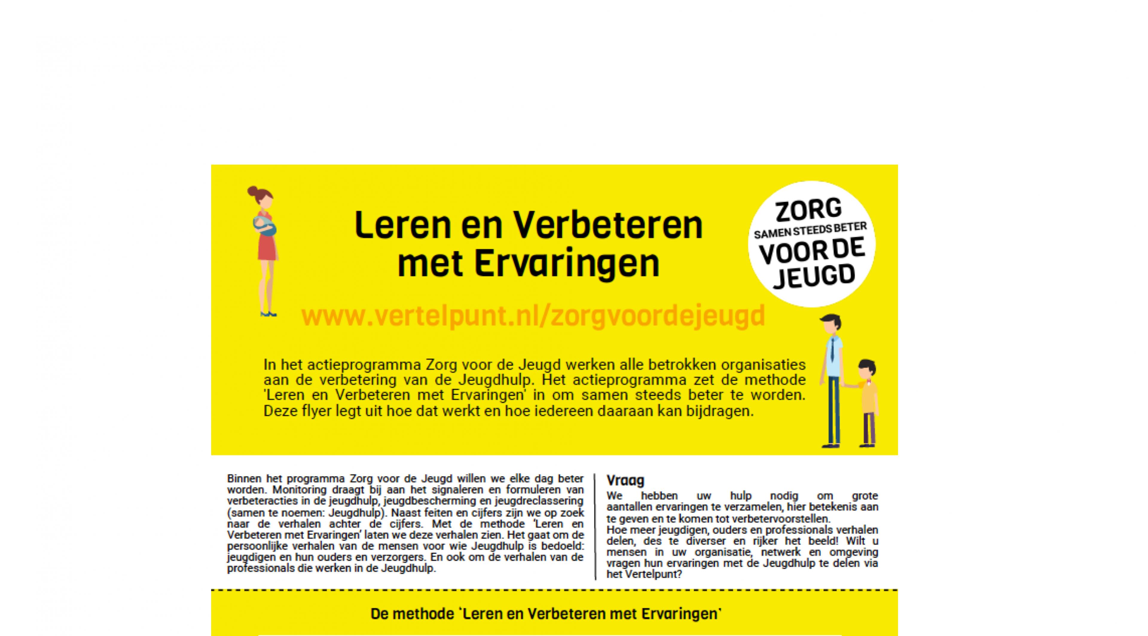 Flyer van Zorg voor de Jeugd legt uit hoe de methode werkt.